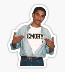 obama loves emory !!!! Sticker