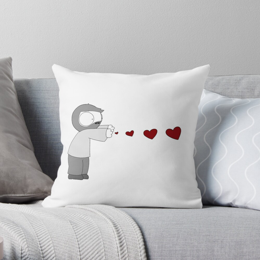 John Hearts Throw Pillow