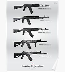 Service Rifles of the Russian Federation Poster