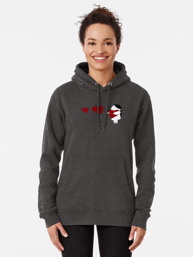 Alternate view of Catana Hearts Pullover Hoodie