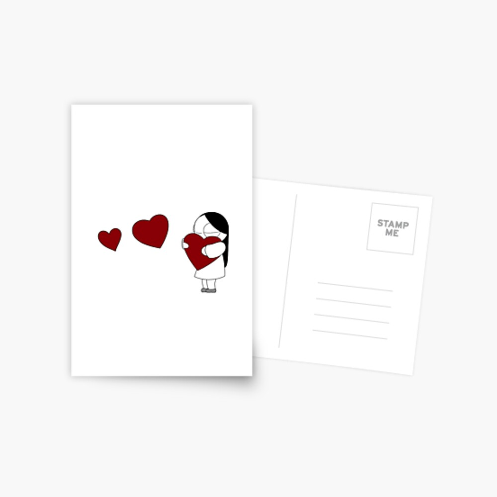 Catana Hearts Postcard