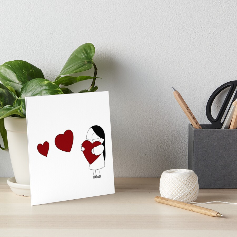 Catana Hearts Art Board Print