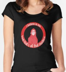 Self Actualized Sasquatch Women's Fitted Scoop T-Shirt