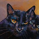 Bombay Cat with Kitten by Michael Creese