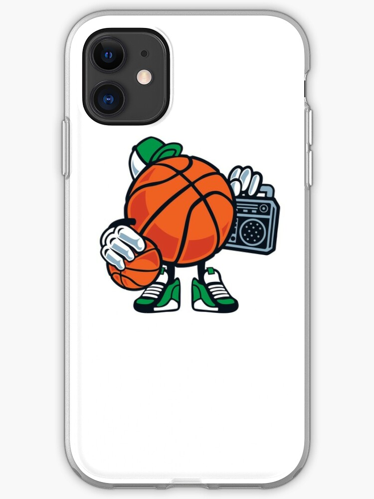 Funny Basketball Cartoon Street Baller Game Gift T Shirt For Kids Iphone Case Cover By Culturesociety Redbubble