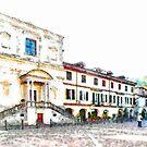 Church and building of Arona by Giuseppe Cocco