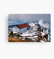 Restaurants Rigi Kulm)) Canvas Print