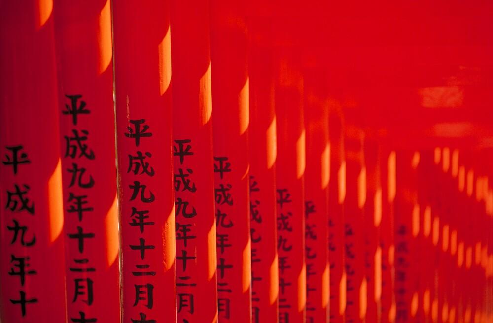 Temple Gates/Tokyo,Japan by Robert George
