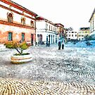 Arona: Square and buildings by Giuseppe Cocco