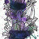 Violet Colour Splash by TakoraTakora