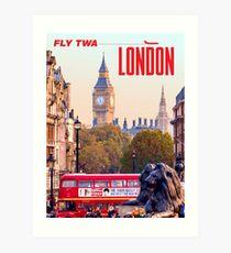 Vintage-Style London Travel Poster Art Print