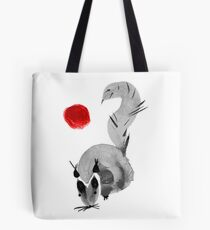 watercolor squirrel. Watercolor hand drawn brush vector  Tote Bag