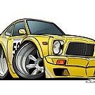 Mazda 808 Racecar CarToon by ToonMyRide