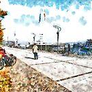 Arona: harbor pier by Giuseppe Cocco