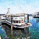 Port of Arona: ferry at the bottom by Giuseppe Cocco