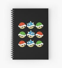 Mario Kart Items- Shells Spiral Notebook