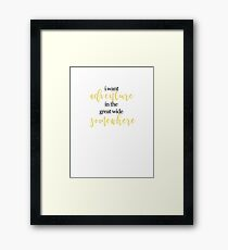 Beauty and the Beast Quote 1 Framed Print