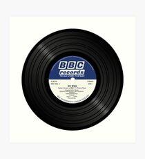 BBC Radiophonic Workshop Record - Doctor Who Single Art Print