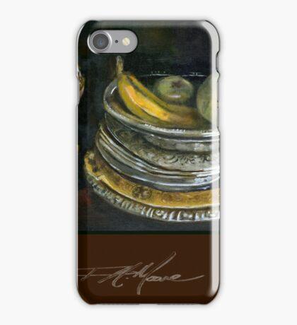 China Cabinet Still Life I. FA Moore Signature design, in Red Wine iPhone Case/Skin