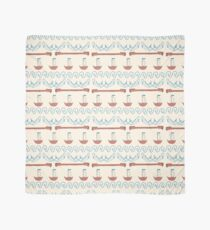Seamless sea pattern. Vector illustration with marine elements. Scarf