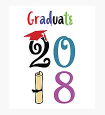 Graduate - 2018 with colorful and interesting images for graduate to enjoy Photographic Print