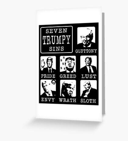 Seven Trumpy Sins Greeting Card