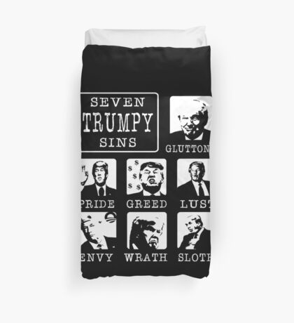 Seven Trumpy Sins Duvet Cover