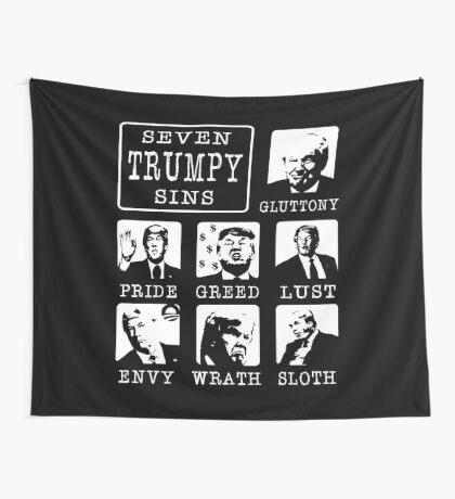 Seven Trumpy Sins Wall Tapestry