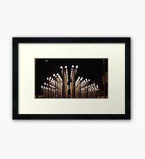 urban lights-lacma Framed Print