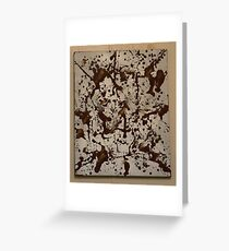 Brown To Silver Greeting Card