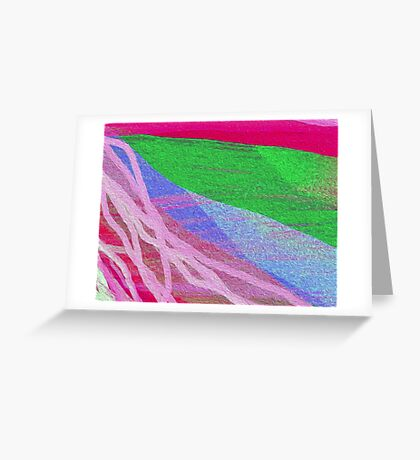The River Abstract Greeting Card