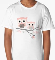 Cute Owls - Coolest Mom Design Long T-Shirt