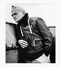 Admiral William Bull Halsey - On Ship WW2 Photographic Print