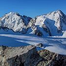 AIguille du Tour French Alps summit panorama  by Chris Warham