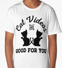 Cat Videos Long T-Shirt