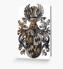 Transparent Background - Red Coat of Arms  Greeting Card