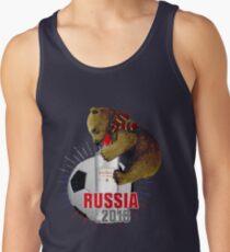 Weltmeisterschaft 2018 Russland mit Wodka-T-Shirt Tanktop für Männer