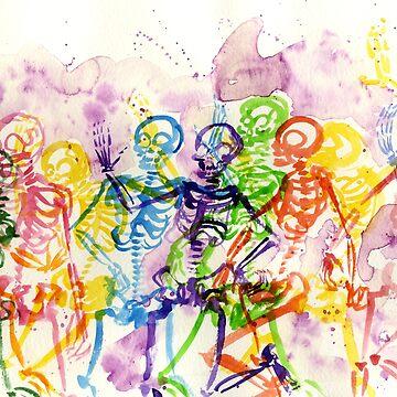 Skeleton Party by jojoseames