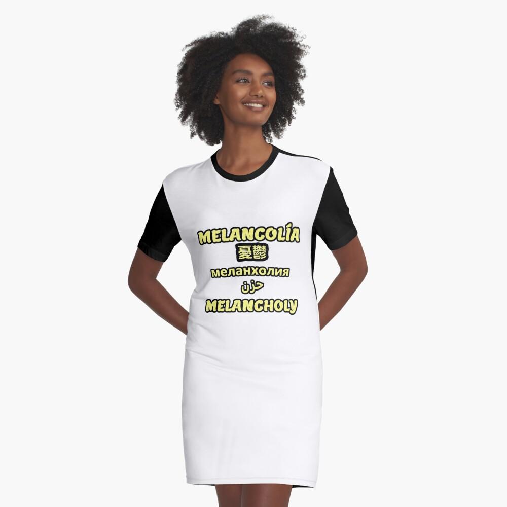 Melancholische Übersetzung T-Shirt Kleid