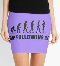 Stop Following Me - evelution Mini Skirt