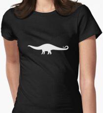 Minimal Brontosaurus Women's Fitted T-Shirt