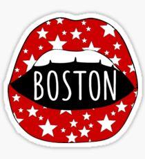 Boston University BU Lips Sticker