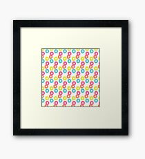 Fruity Loops Colorful Shapes Circular Rounds Framed Print