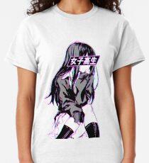 SCHOOLGIRL (Glitch) - Sad Japanese Anime Aesthetic Classic T-Shirt