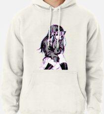 SCHOOLGIRL (Glitch) - Sad Japanese Anime Aesthetic Pullover Hoodie