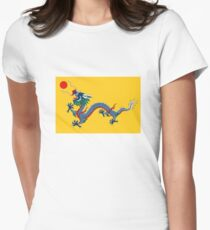 Drapeau du Dragon jaune impérial, dynastie Qing (Chine) T-shirt moulant femme