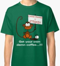 Coffee Monkey on STRIKE!! Classic T-Shirt