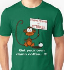Coffee Monkey on STRIKE!! T-Shirt