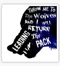 Wolves quote Sticker