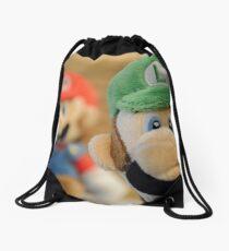 Luigi is the Winner Drawstring Bag